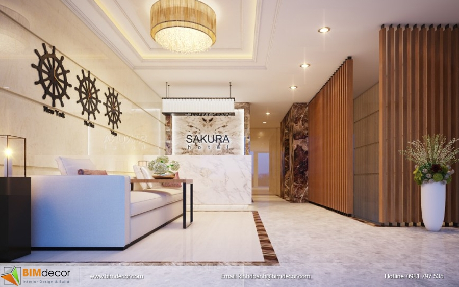 Dự án 15 phòng nội thất khách sạn Sakura