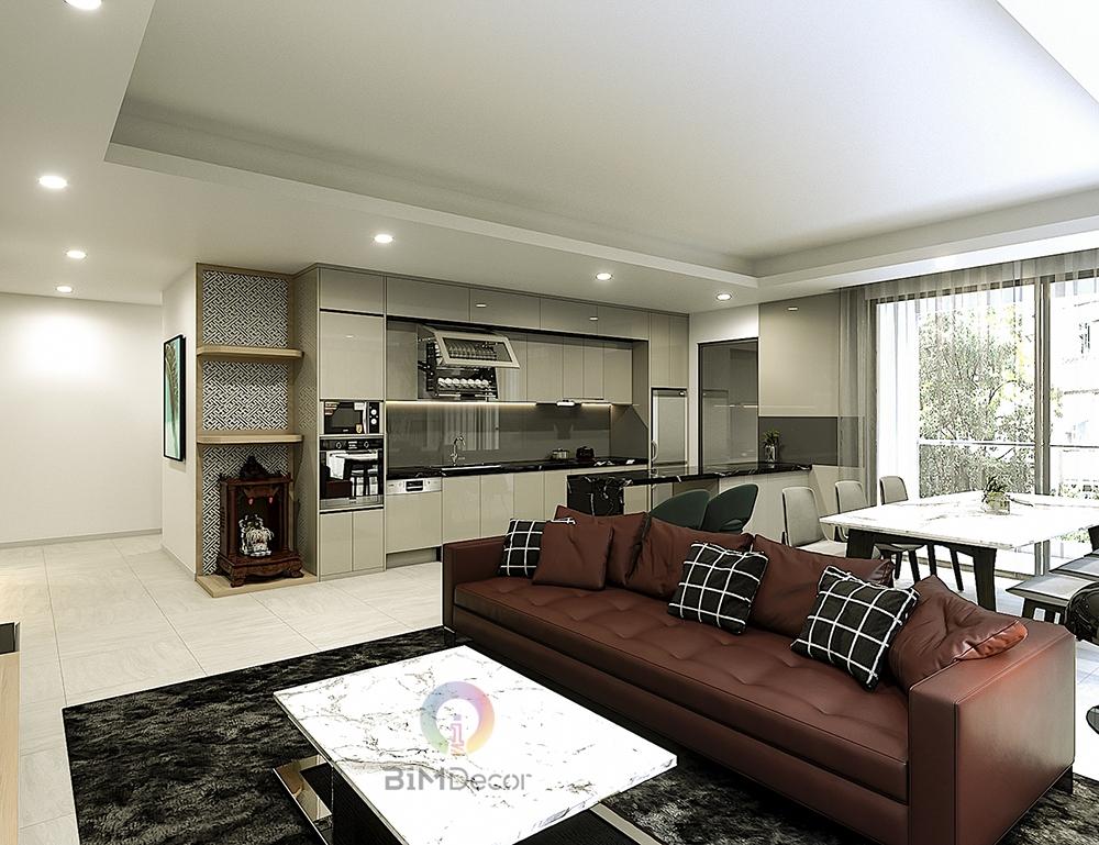 Thiết kế & thi công căn hộ Đảo Kim Cương Quận 2