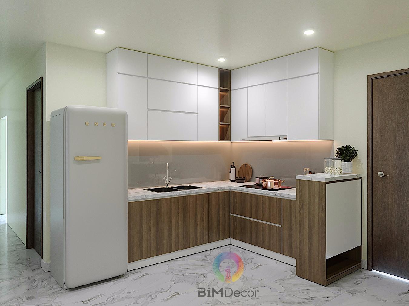Thi công 300 căn tủ bếp dự án Goldora Plaza