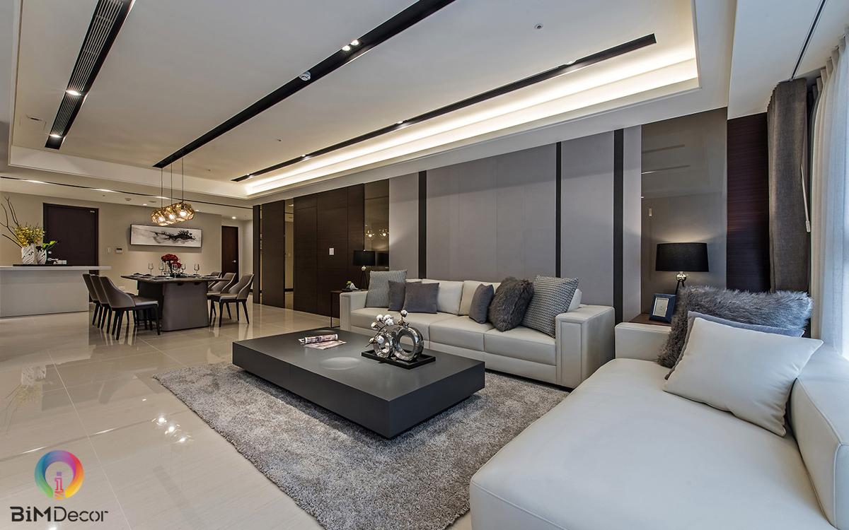 Nội thất căn hộ 120m2 với 3 phòng ngủ bố trí ấn tượng