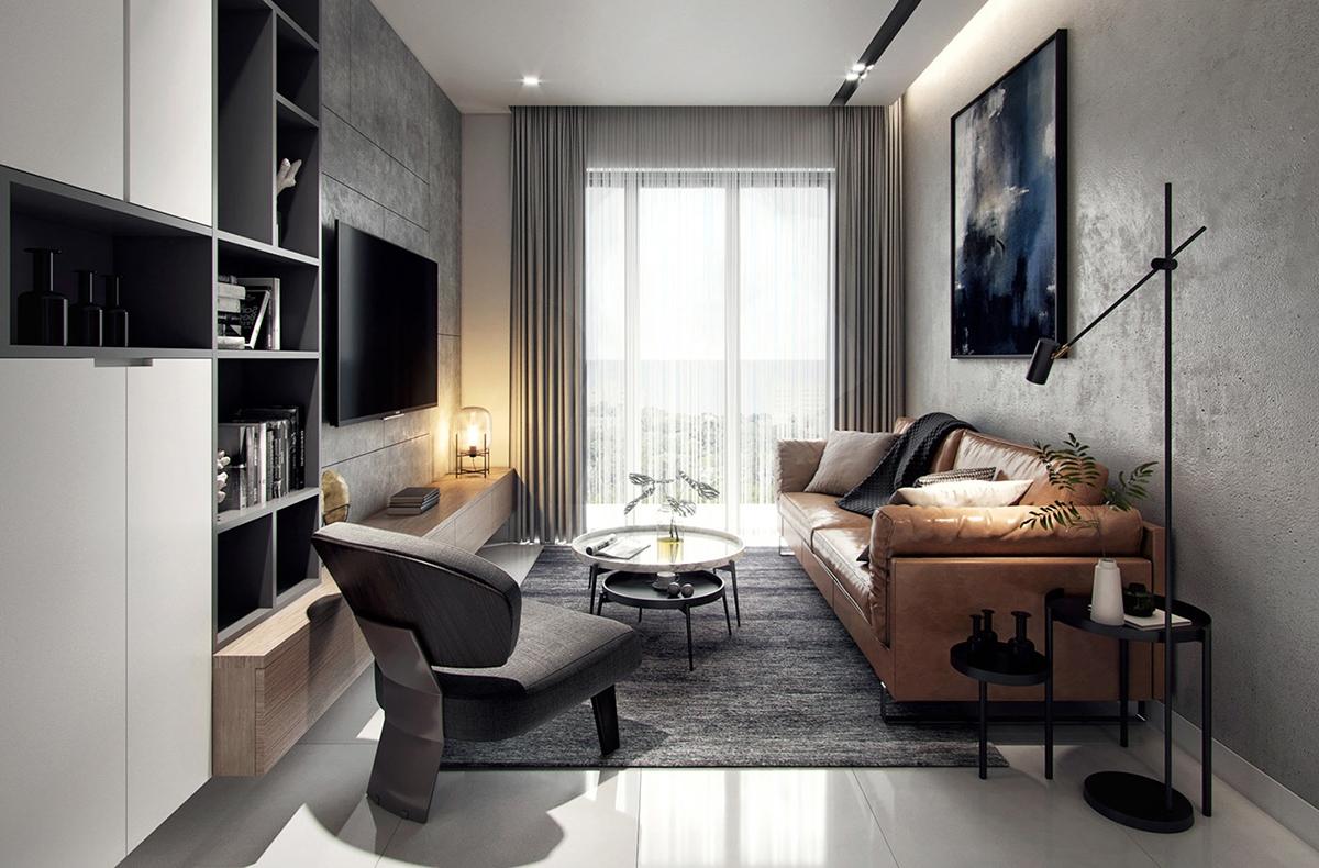 Nội thất căn hộ hiện đại 76m2 đẹp ấn tượng