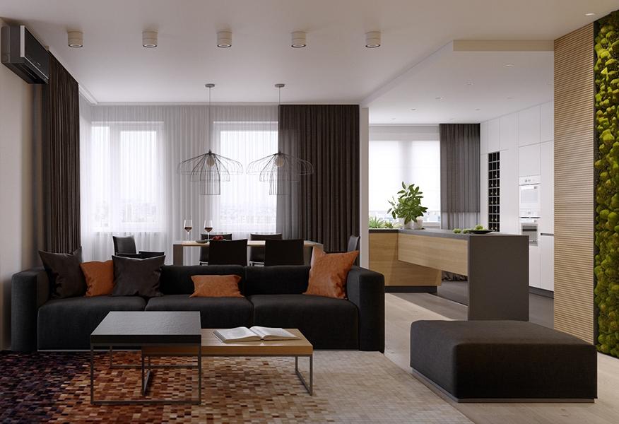 Nội thất căn hộ 3 phòng ngủ thiết kế rộng rãi và thoáng đãng