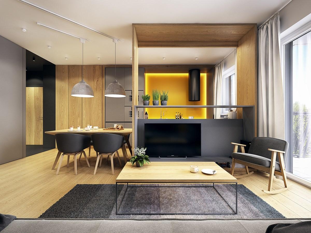 Nội thất sang chảnh căn hộ 1 phòng ngủ 48m2