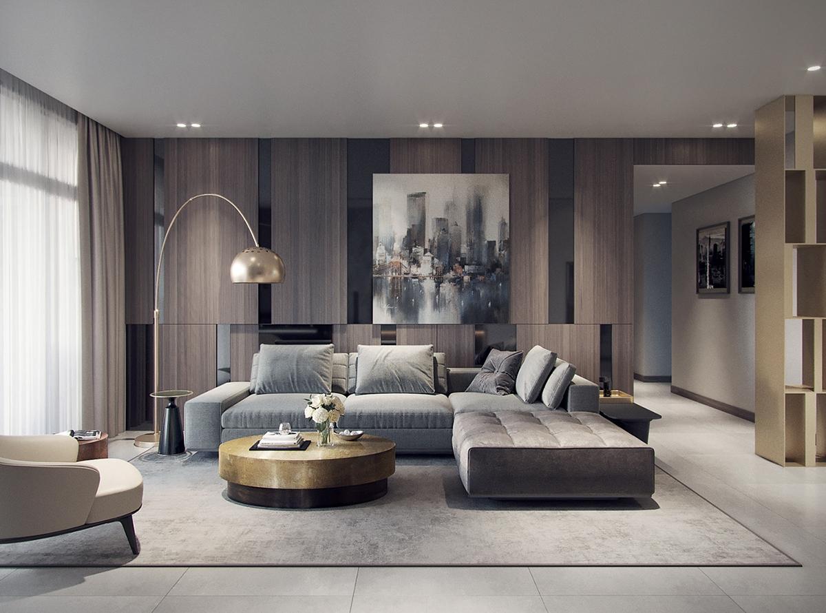 Nội thất căn hộ 2 phòng ngủ 86m2 phong cách hiện đại đẹp hoàn hảo