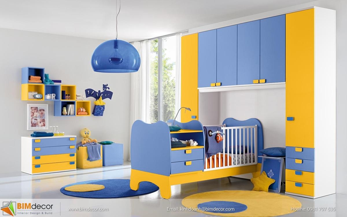 Mẫu phòng trẻ em trai 012