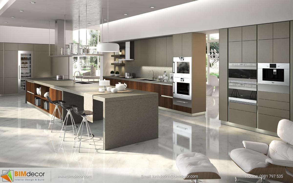Mẫu tủ bếp đẹp 006