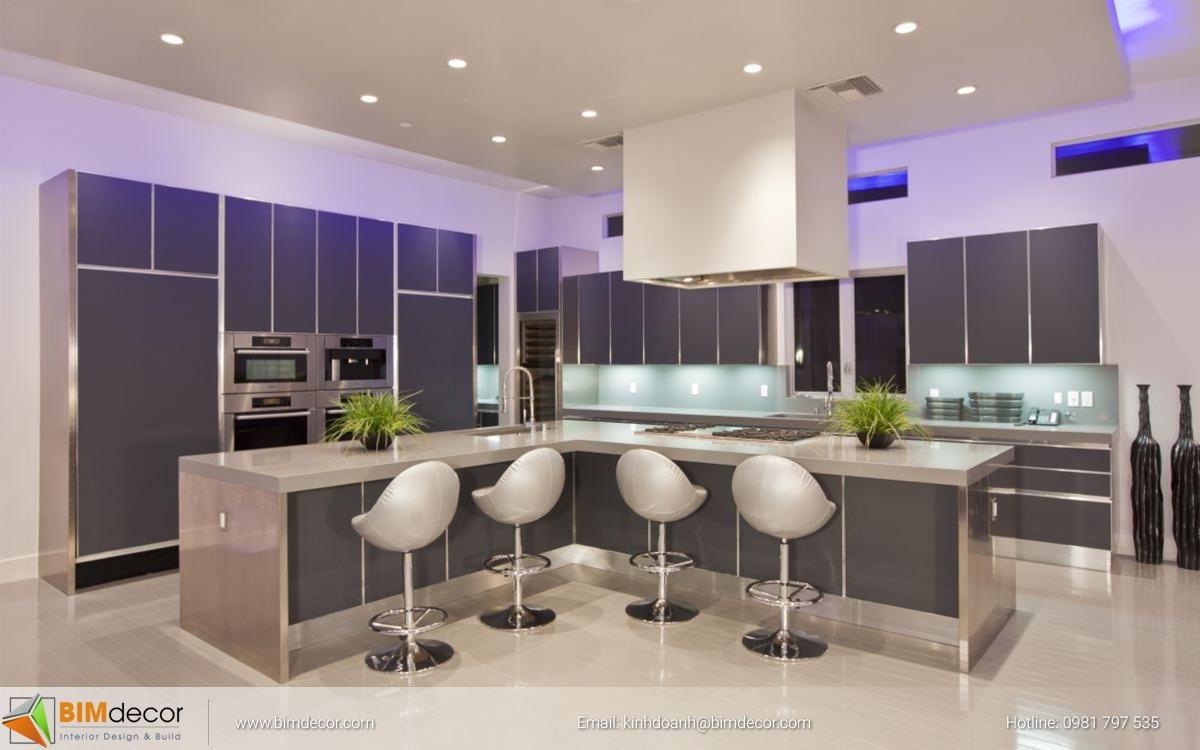 Mẫu tủ bếp đẹp 008