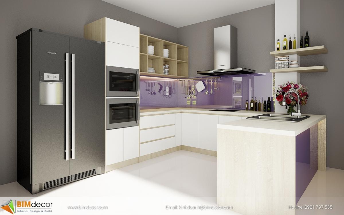 Mẫu tủ bếp đẹp 013