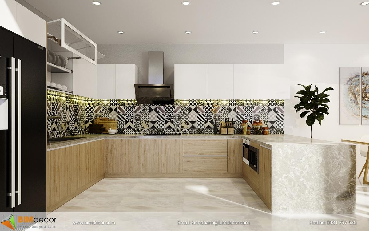 Mẫu tủ bếp đẹp 015