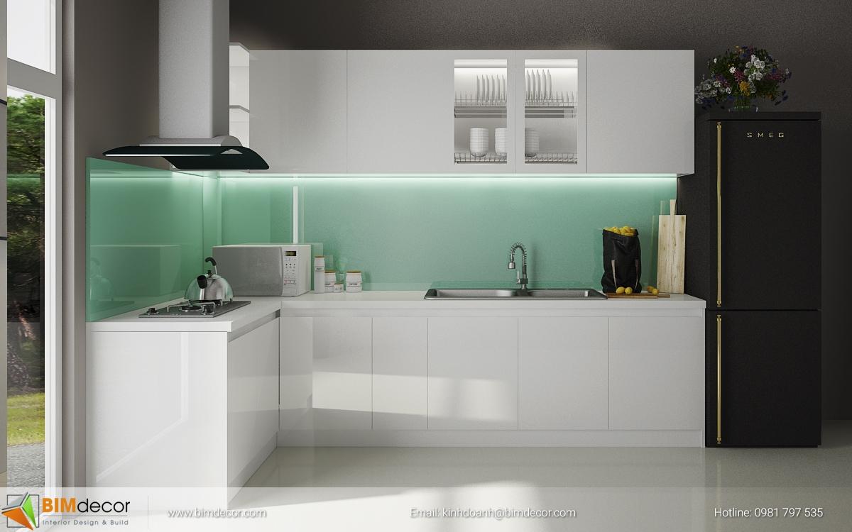 Mẫu tủ bếp đẹp 017