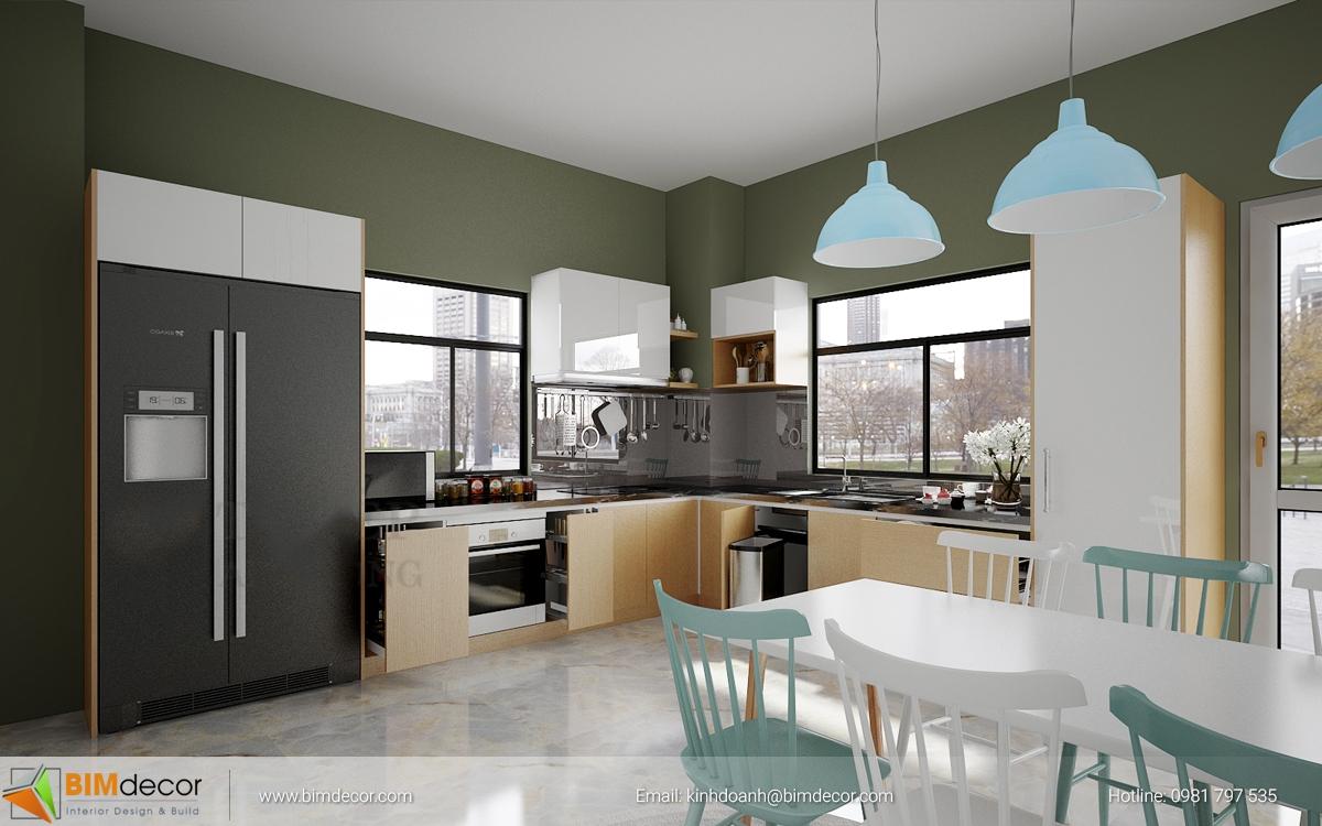 Mẫu tủ bếp đẹp 018