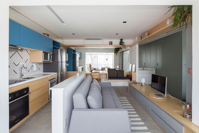 Nội thất căn hộ hiện đại 38m2